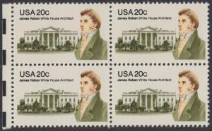 USA Michel 1510 / Scott 1936 postfrisch BLOCK RÄNDER links - James Hoban (1762-1831), Architekt des Weißen Hauses