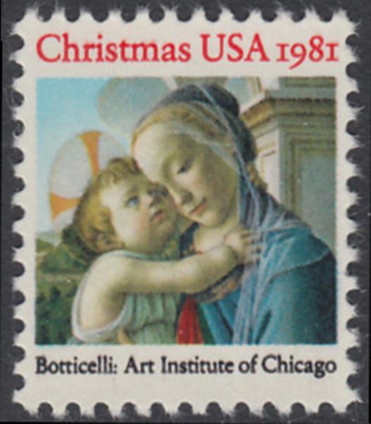 USA Michel 1513 / Scott 1939 postfrisch EINZELMARKE - Weihnachten: Madonna und Kind 0
