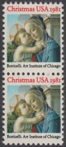 USA Michel 1513 / Scott 1939 postfrisch vert.PAAR - Weihnachten: Madonna und Kind