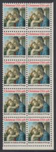 USA Michel 1513 / Scott 1939 postfrisch vert.BLOCK(10) ECKRAND unten rechts - Weihnachten: Madonna und Kind