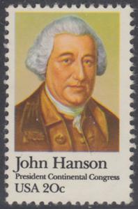 USA Michel 1515 / Scott 1941 postfrisch EINZELMARKE - John Hanson (1721-1783), erster Präsident des Kontinentalkongresses