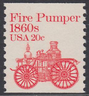 USA Michel 1516 / Scott 1908 postfrisch EINZELMARKE - Fahrzeuge: Feuerlöschpumpe 0