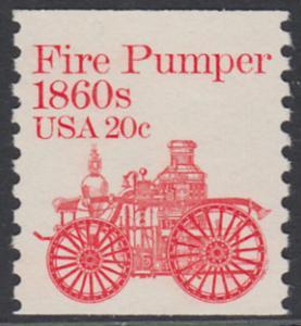 USA Michel 1516 / Scott 1908 postfrisch EINZELMARKE - Fahrzeuge: Feuerlöschpumpe