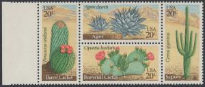 USA Michel 1517-1520 / Scott 1942-1945 postfrisch BLOCK RÄNDER links (a1) - Wüstenpflanzen