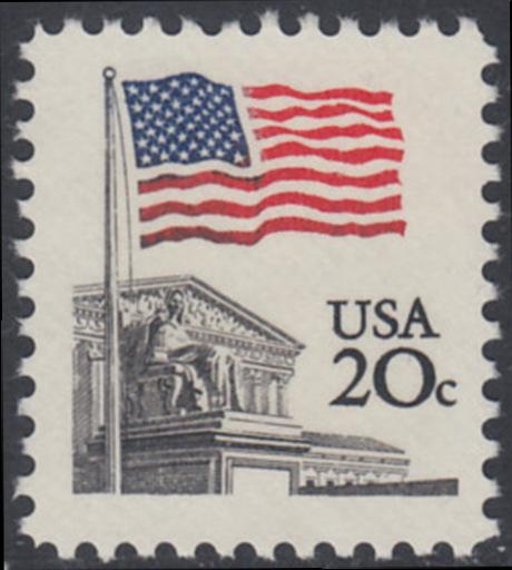 USA Michel 1522 / Scott 1894 postfrisch EINZELMARKE - Flagge, Gebäude des obersten Bundesgerichts 0