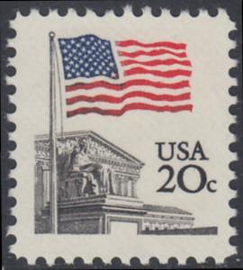 USA Michel 1522 / Scott 1894 postfrisch EINZELMARKE - Flagge, Gebäude des obersten Bundesgerichts