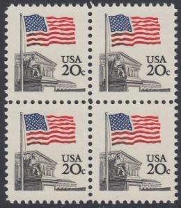 USA Michel 1522 / Scott 1894 postfrisch BLOCK - Flagge, Gebäude des obersten Bundesgerichts