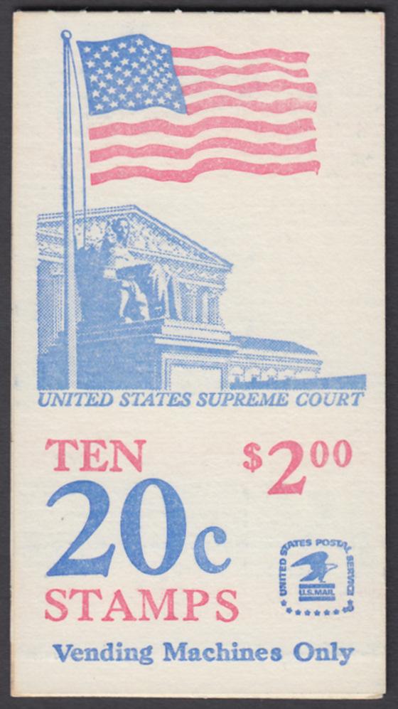 USA Michel 1522D / Scott 1896b postfrisch Markenheftchen(10) - Flagge, Gebäude des obersten Bundesgerichts 0