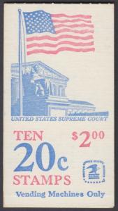 USA Michel 1522D / Scott 1896b postfrisch Markenheftchen(10) - Flagge, Gebäude des obersten Bundesgerichts