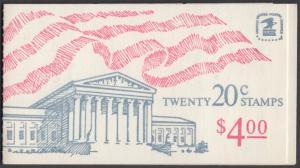 USA Michel 1522D / Scott 1896b postfrisch Markenheftchen(20) - Flagge, Gebäude des obersten Bundesgerichts