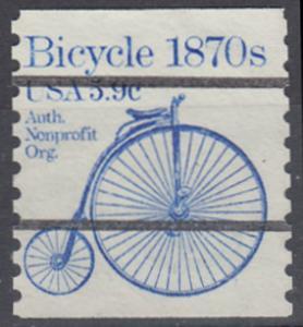 USA Michel 1529 / Scott 1901 postfrisch/precancelled EINZELMARKE precancelled (a02) - Fahrzeuge: Fahrrad