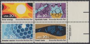 USA Michel 1585-1588 / Scott 2006-2009 postfrisch BLOCK RÄNDER rechts m/ copyright symbol - Weltausstellung in Knoxville