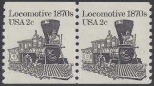 USA Michel 1590 / Scott 1897A postfrisch horiz.PAAR - Fahrzeuge: Lokomotive