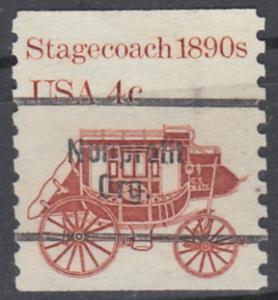 USA Michel 1597 / Scott 1896A postfrisch/precancelled  EINZELMARKE (a1) - Fahrzeuge: Postkutsche