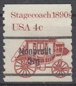USA Michel 1597 / Scott 1896A postfrisch/precancelled  EINZELMARKE (a3) - Fahrzeuge: Postkutsche