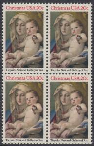 USA Michel 1606 / Scott 2026 postfrisch BLOCK - Weihnachten: Madonna und Kind