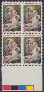 USA Michel 1606 / Scott 2026 postfrisch BLOCK RÄNDER unten - Weihnachten: Madonna und Kind