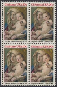 USA Michel 1606 / Scott 2026 postfrisch BLOCK RÄNDER links - Weihnachten: Madonna und Kind