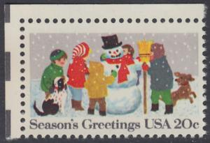 USA Michel 1608 / Scott 2028 postfrisch EINZELMARKE ECKRAND oben links - Weihnachten