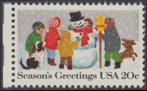 USA Michel 1608 / Scott 2028 postfrisch EINZELMARKE RAND links - Weihnachten