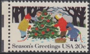 USA Michel 1610 / Scott 2030 postfrisch EINZELMARKE RAND links (a1) - Weihnachten