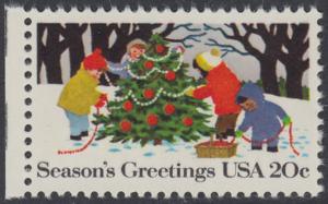 USA Michel 1610 / Scott 2030 postfrisch EINZELMARKE RAND links (a2) - Weihnachten