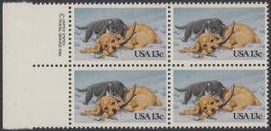 USA Michel 1611 / Scott 2025 postfrisch BLOCK RÄNDER links m/ copyright symbol - Grußmarke: Kätzchen und Hündchen