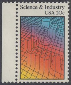 USA Michel 1613 / Scott 2031 postfrisch EINZELMARKE RAND links (a2) - Wissenschaft und Industrie: Computer-Graphik von Industrieanlagen