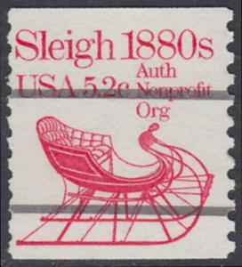 USA Michel 1614 / Scott 1900 postfrisch EINZELMARKE (precancelled / a3) - Fahrzeuge: Schlitten