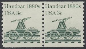 USA Michel 1616 / Scott 1898 postfrisch horiz.PAAR - Fahrzeuge: Draisine