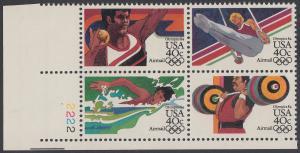 USA Michel 1622-1625 / Scott C105-C108 postfrisch PLATEBLOCK ECKRAND unten links m/ Platten-# 2222 (b)