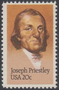 USA Michel 1626 / Scott 2038 postfrisch EINZELMARKE - 250. Geburtstag von Josef Priestley, Chemiker