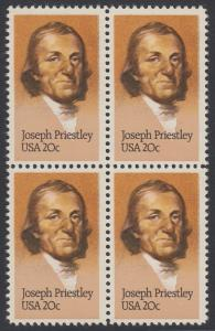 USA Michel 1626 / Scott 2038 postfrisch BLOCK - 250. Geburtstag von Josef Priestley, Chemiker
