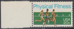 USA Michel 1629 / Scott 2043 postfrisch EINZELMARKE RAND links (a1) - Körperliche Fitness: Langstreckenlauf, Elektrokardiogramm