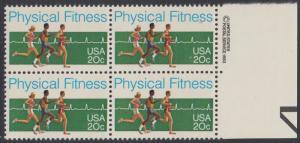 USA Michel 1629 / Scott 2043 postfrisch BLOCK RÄNDER rechts m/ copyright symbol - Körperliche Fitness: Langstreckenlauf, Elektrokardiogramm