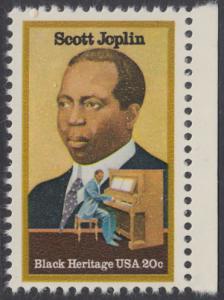 USA Michel 1634 / Scott 2044 postfrisch EINZELMARKE RAND rechts - Schwarzamerikanisches Erbe: Scott Joplin, Musiker