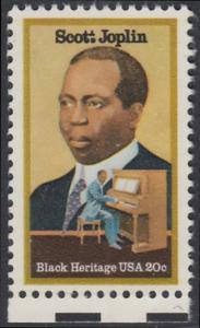 USA Michel 1634 / Scott 2044 postfrisch EINZELMARKE RAND unten - Schwarzamerikanisches Erbe: Scott Joplin, Musiker