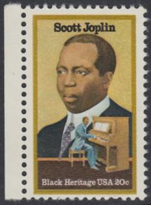 USA Michel 1634 / Scott 2044 postfrisch EINZELMARKE RAND links - Schwarzamerikanisches Erbe: Scott Joplin, Musiker