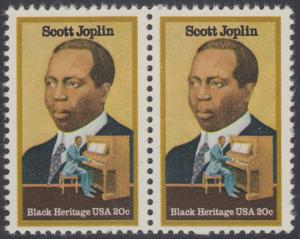 USA Michel 1634 / Scott 2044 postfrisch horiz.PAAR - Schwarzamerikanisches Erbe: Scott Joplin, Musiker