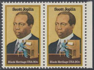 USA Michel 1634 / Scott 2044 postfrisch horiz.PAAR RAND rechts - Schwarzamerikanisches Erbe: Scott Joplin, Musiker