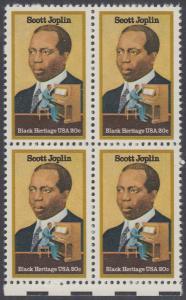 USA Michel 1634 / Scott 2044 postfrisch BLOCK RÄNDER unten - Schwarzamerikanisches Erbe: Scott Joplin, Musiker