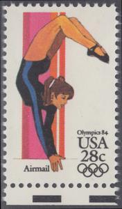USA Michel 1636 / Scott C101 postfrisch EINZELMARKE RAND unten - Olympische Sommerspiele 1984, Los Angeles