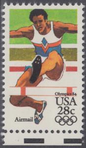USA Michel 1637 / Scott C102 postfrisch EINZELMARKE RAND unten - Olympische Sommerspiele 1984, Los Angeles