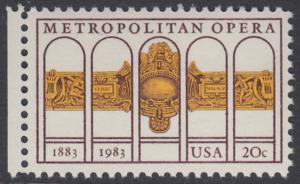USA Michel 1652 / Scott 2054 postfrisch EINZELMARKE RAND links (a2) - 100 Jahre Metropolitan Opera, New York