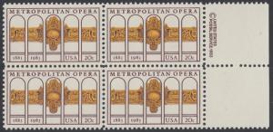 USA Michel 1652 / Scott 2054 postfrisch BLOCK RÄNDER rechts m/ copyright symbol - 100 Jahre Metropolitan Opera, New York