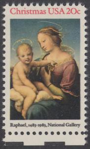 USA Michel 1663 / Scott 2063 postfrisch EINZELMARKE RAND unten (a1) - Weihnachten: HI. Jungfrau und Kind
