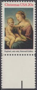 USA Michel 1663 / Scott 2063 postfrisch EINZELMARKE RAND unten (a2) - Weihnachten: HI. Jungfrau und Kind
