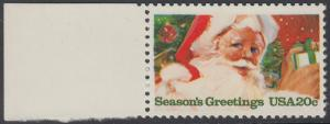 USA Michel 1664 / Scott 2064 postfrisch EINZELMARKE RAND links - Weihnachten: Weihnachtsmann
