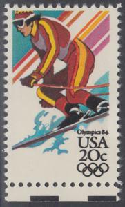 USA Michel 1672 / Scott 2068 postfrisch EINZELMARKE RAND unten - Olympische Winterspiele, Sarajevo