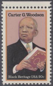 USA Michel 1678 / Scott 2073 postfrisch EINZELMARKE RAND oben - Schwarzamerikanisches Erbe: Carter G. Woodson, Historiker